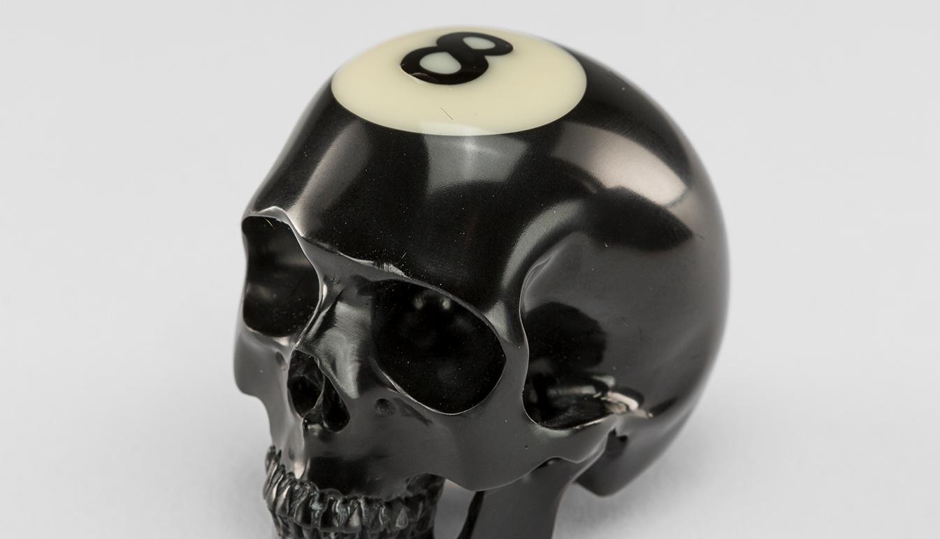 8 Ball Billiard Skull