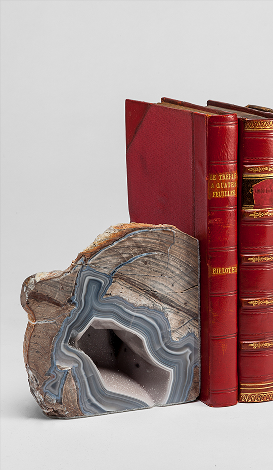 Agate Ryolite Quartz Bookends