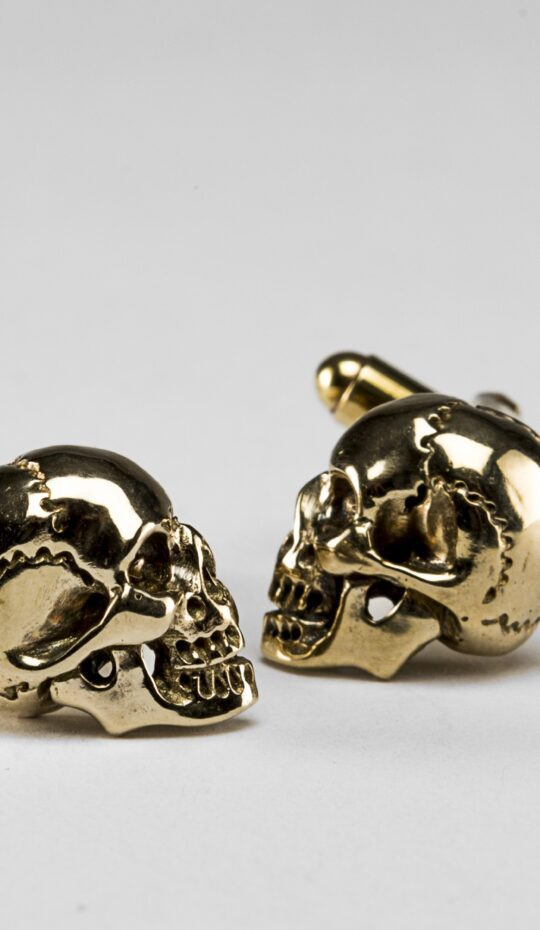 Brass Skull Cufflinks