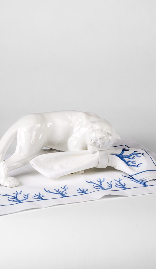 Ceramic Leopard Napkin Ring Holder Right