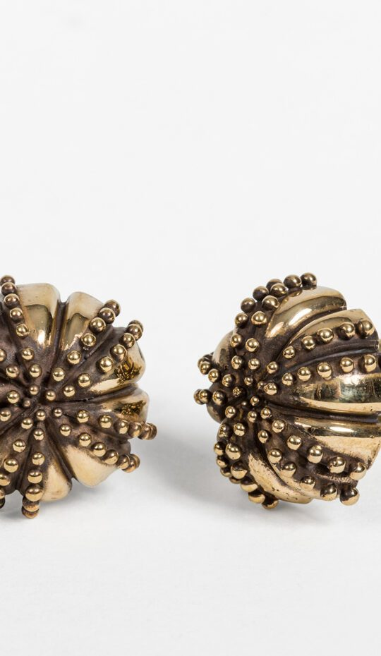 Large Urchin Brass Cufflinks