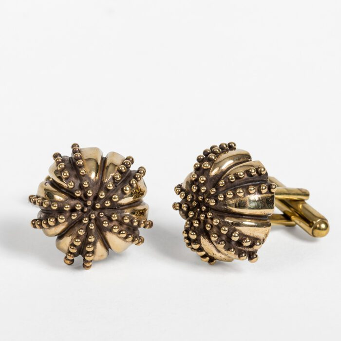 Large Urchin Brass Cufflinks