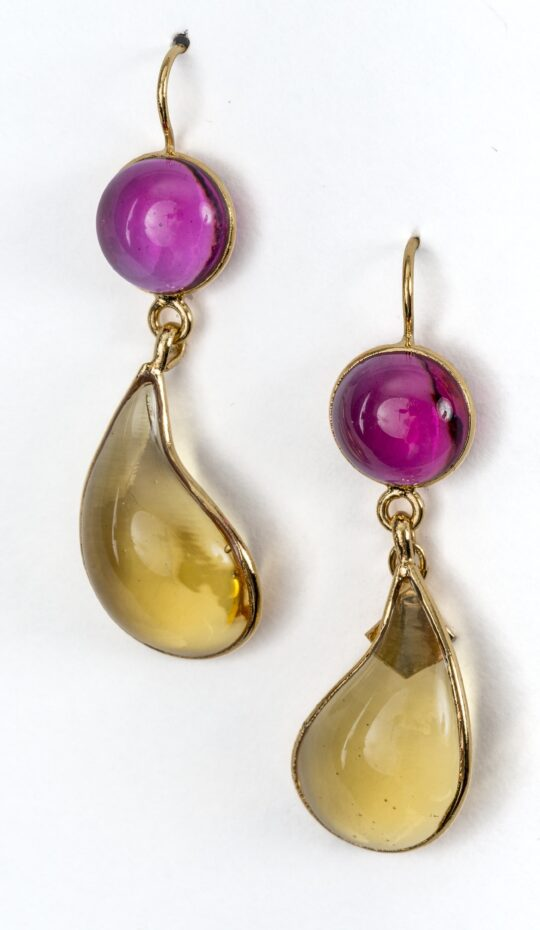 Loulou de la Falaise Pate de Vere Bi Color Earrings
