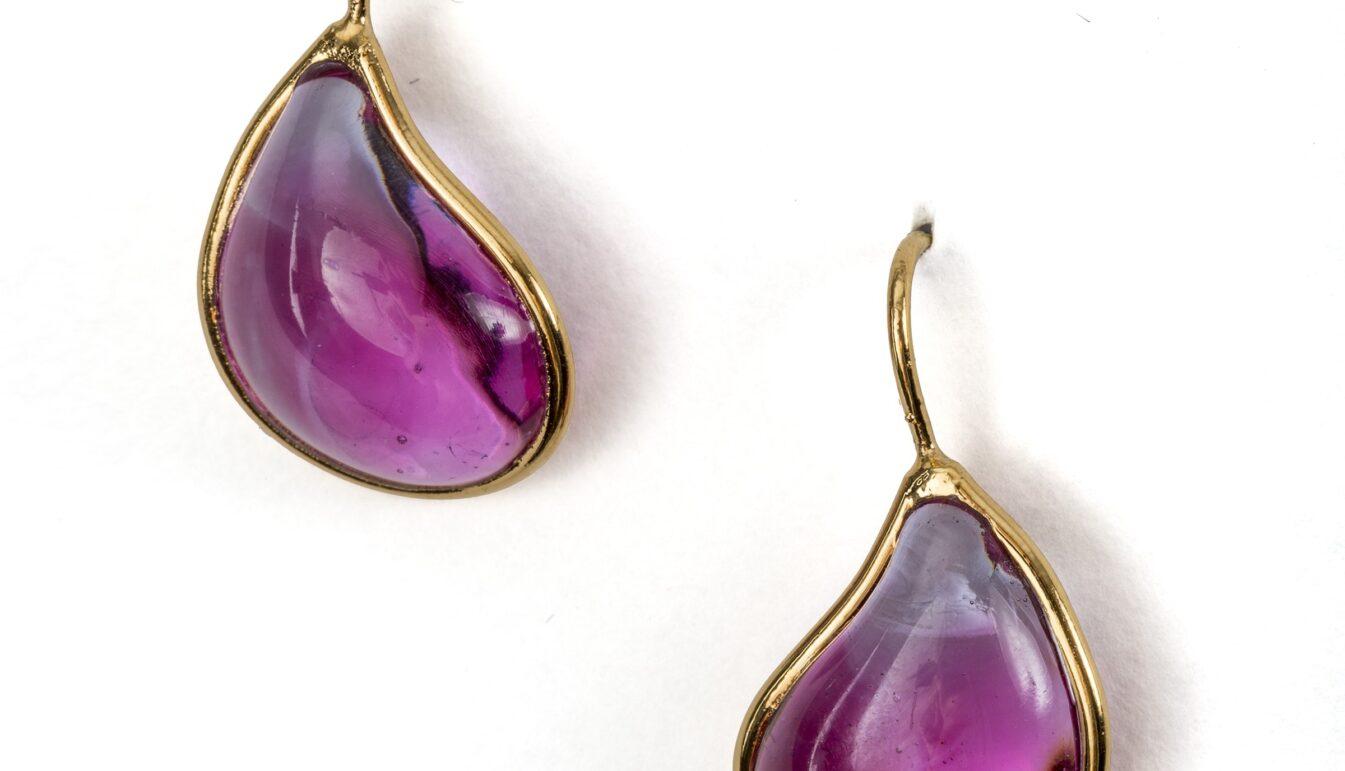 Loulou de la Falaise Pate de Vere Tear Drop Earrings