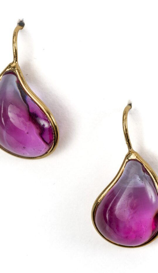 Loulou de la Falaise Pate de Vere Tear Drop Earrings