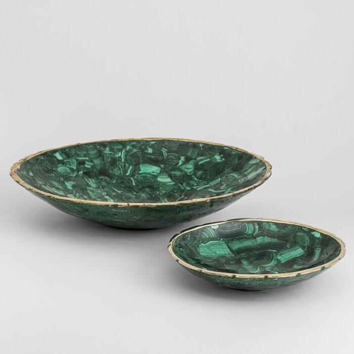 Malachite Dish w/ Brass Rim 3