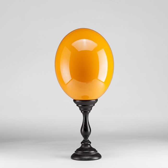 Orange Lacquered Ostrich Egg Mounted