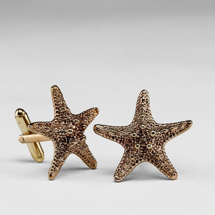 Starfish Brass Cufflinks