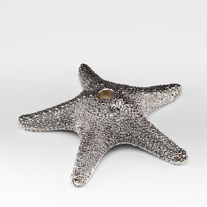 Starfish Julian Silver Candlestick