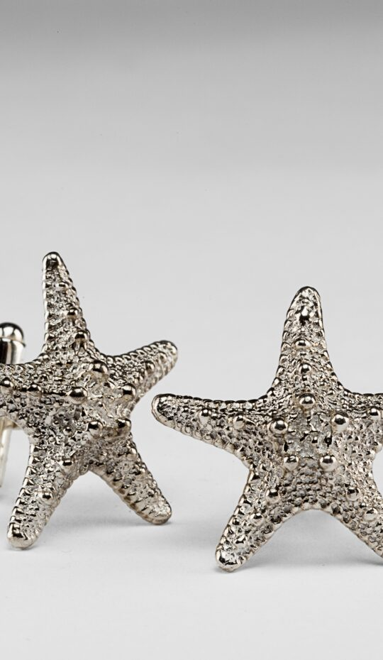 Starfish Silver Cufflinks