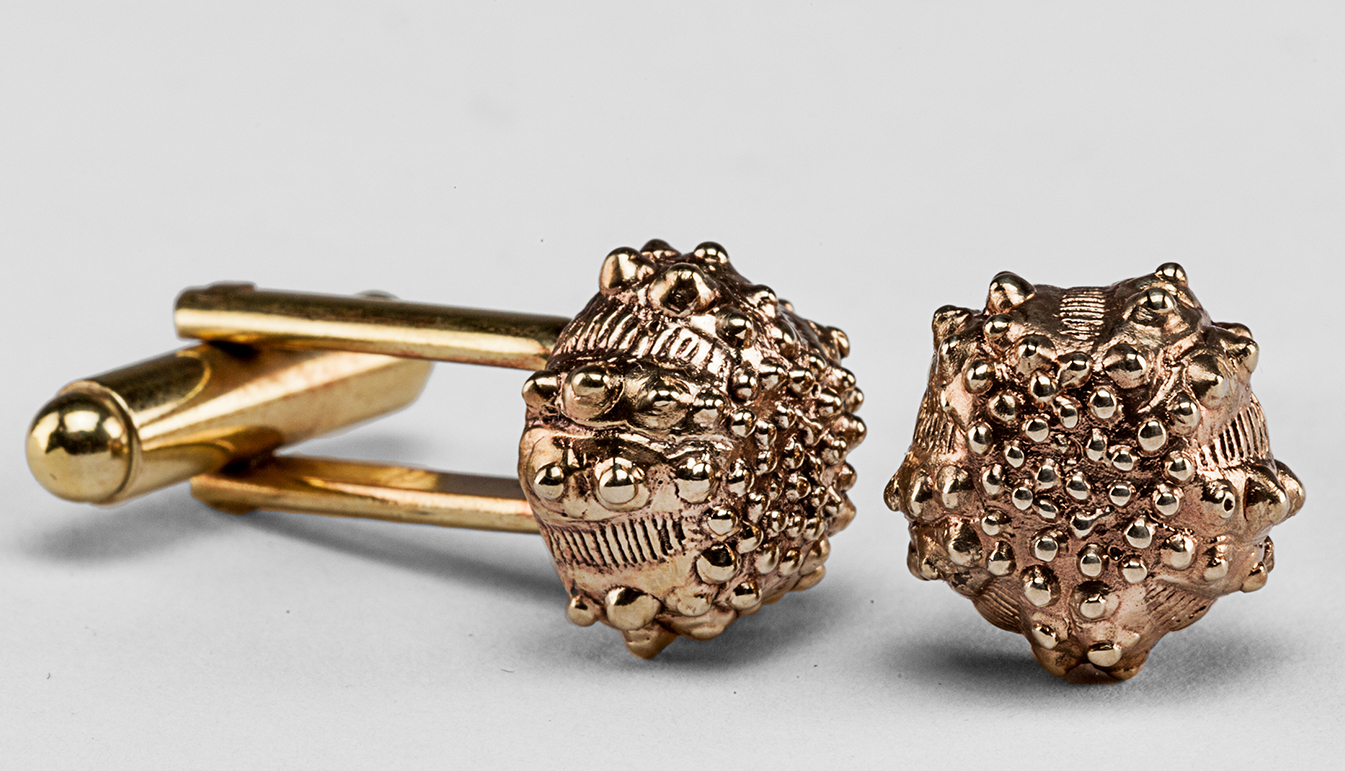 Urchin Brass Cufflinks