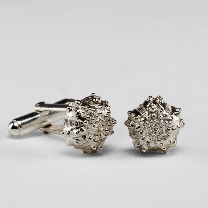 Urchin Silver Cufflinks