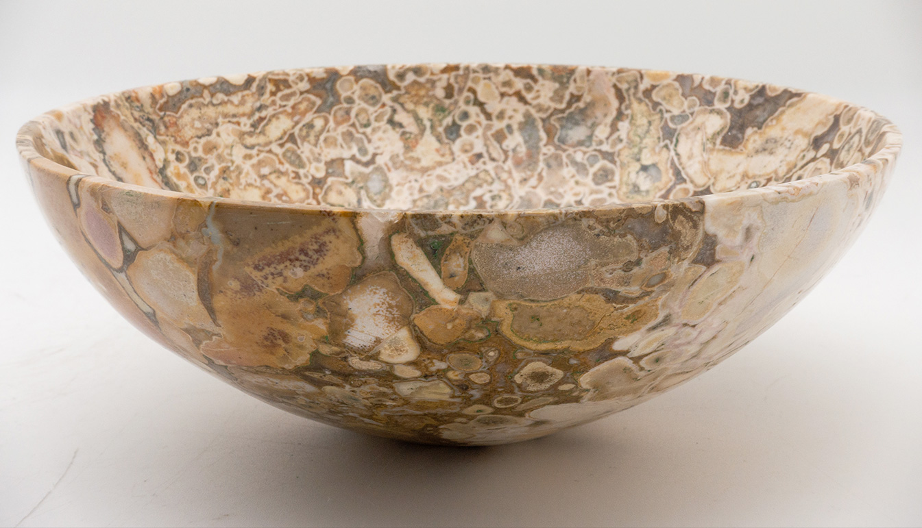 Hand-Carved Conglomerate Bowl 8