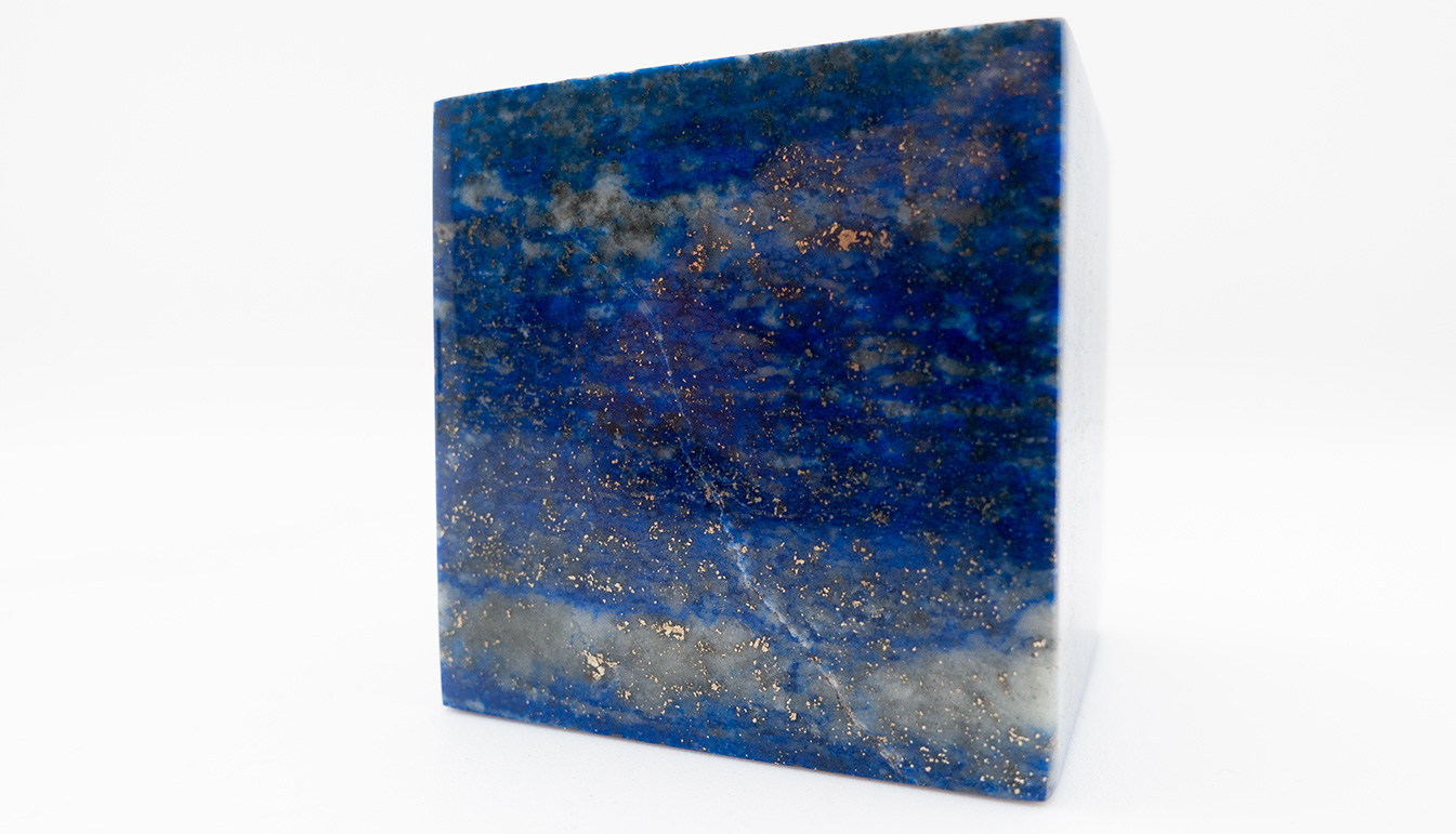 Lapis Lazuli Cube from Afghanistan 1.75