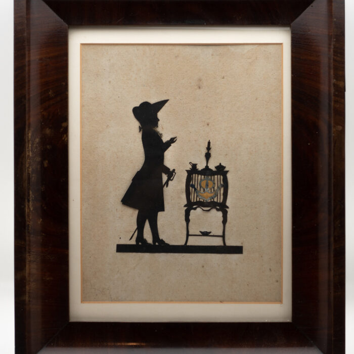 Paper Cut Silhouette of Gentleman, 19th Century