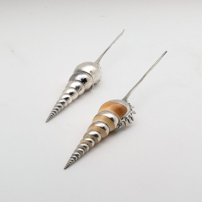 Silvered Tibia Fusus Shell