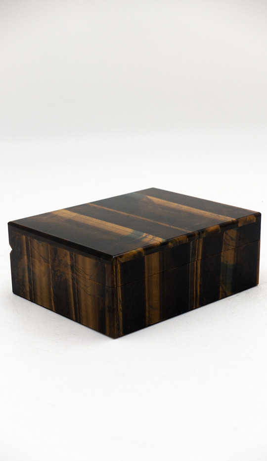 Tiger's Eye Hinged Box