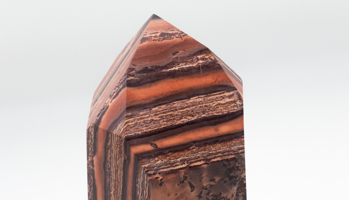 Orange-Brown Banded Jasper Point
