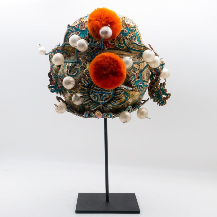 Chinese Opera Theatre Headdress, Turquoise/Gold, c 1920s