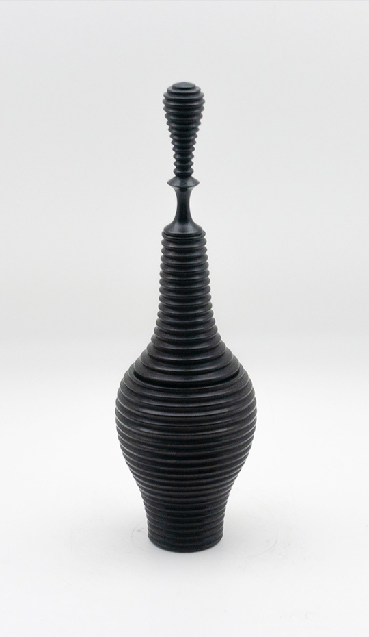 Turned Ebony Vessel III