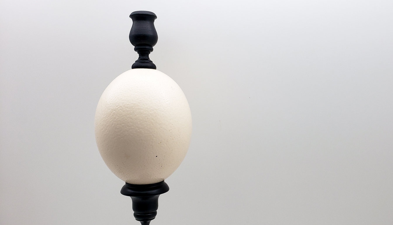 Mounted Ostrich Egg Candle Stick