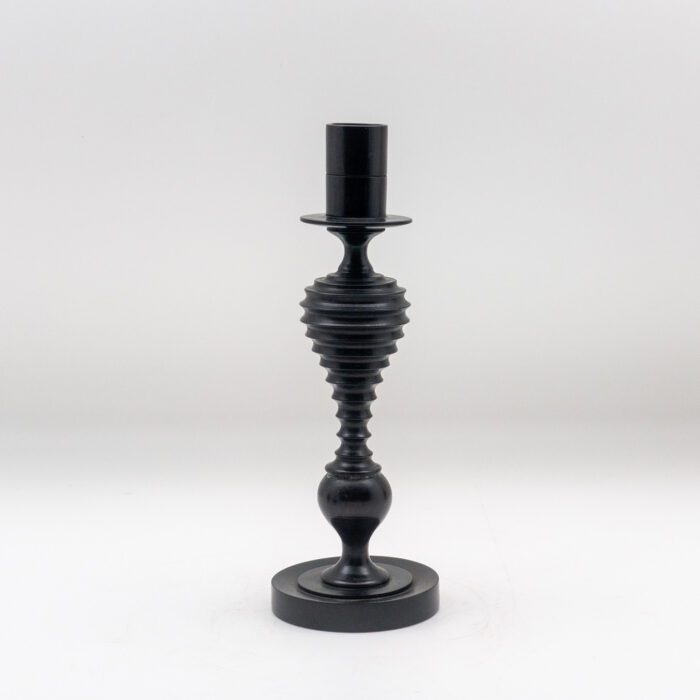 Turned Ebony Candlestick