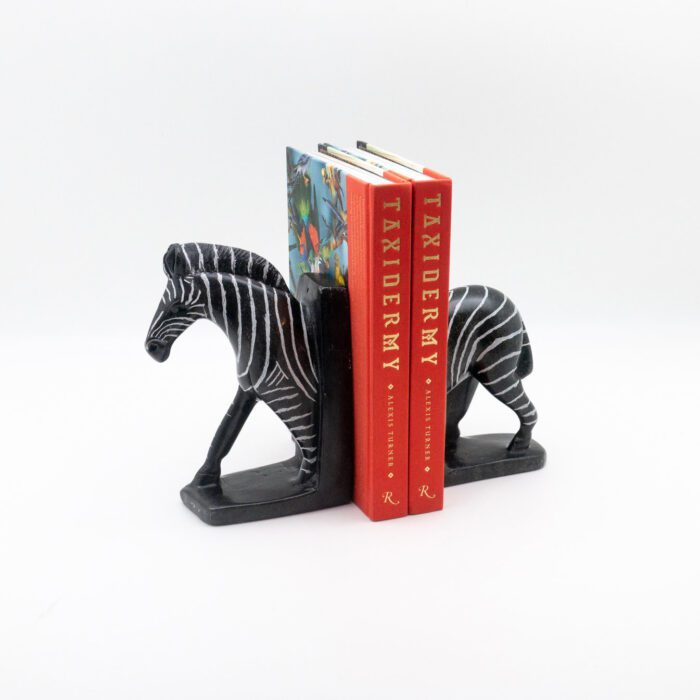 Zebra Stone Bookends