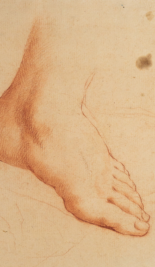 Sanguine Study of Foot, 18th Century