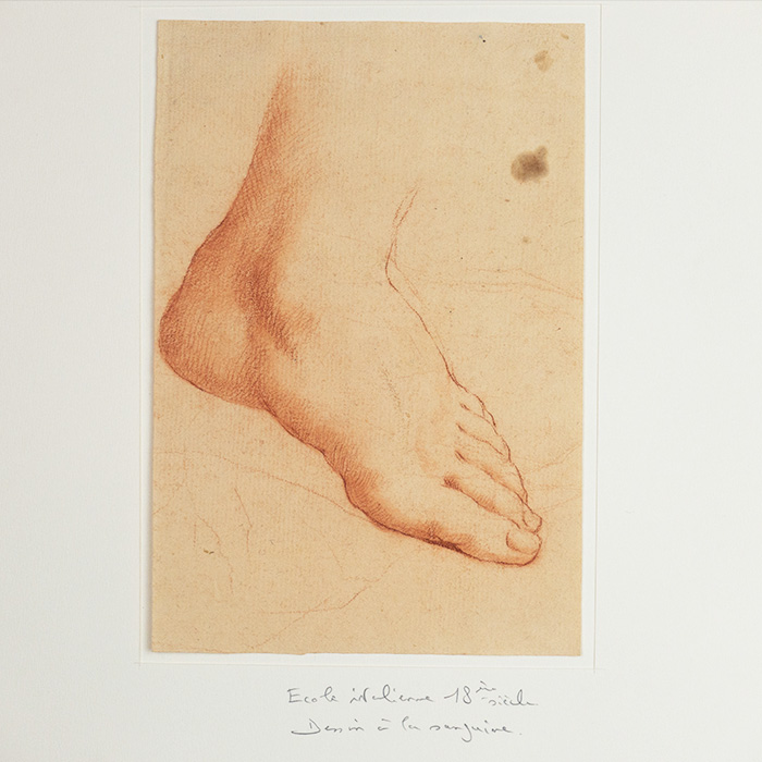 Sanguine Study of Foot, 18th Century