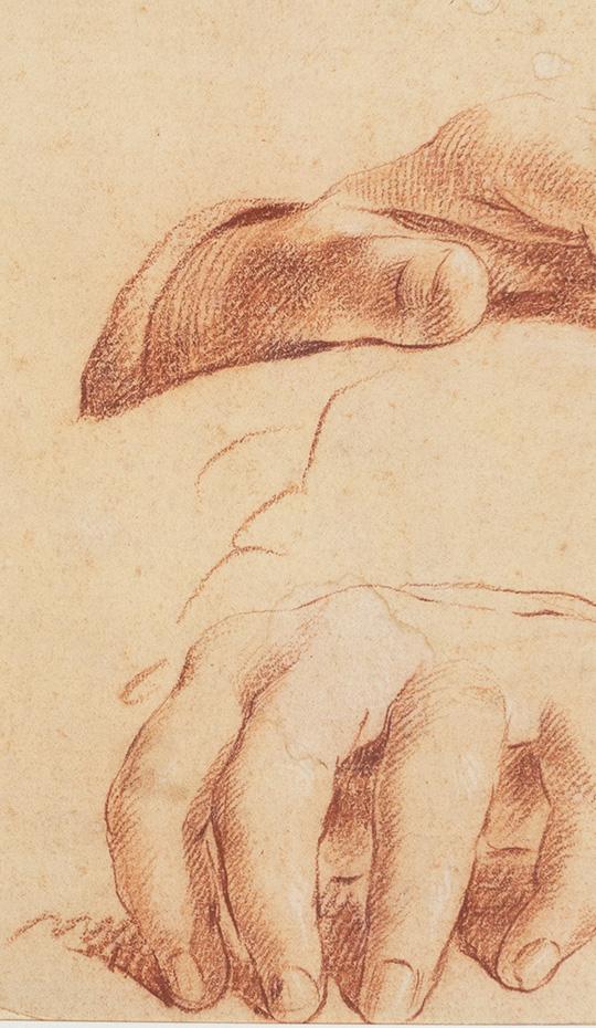 Sanguine Study of Hands, 18th Century