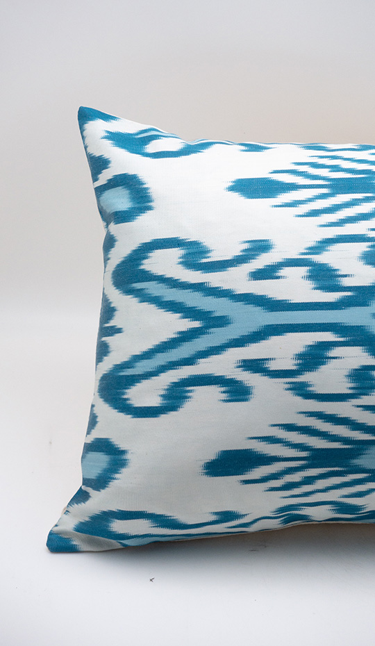 Ikat Pillow, Blue
