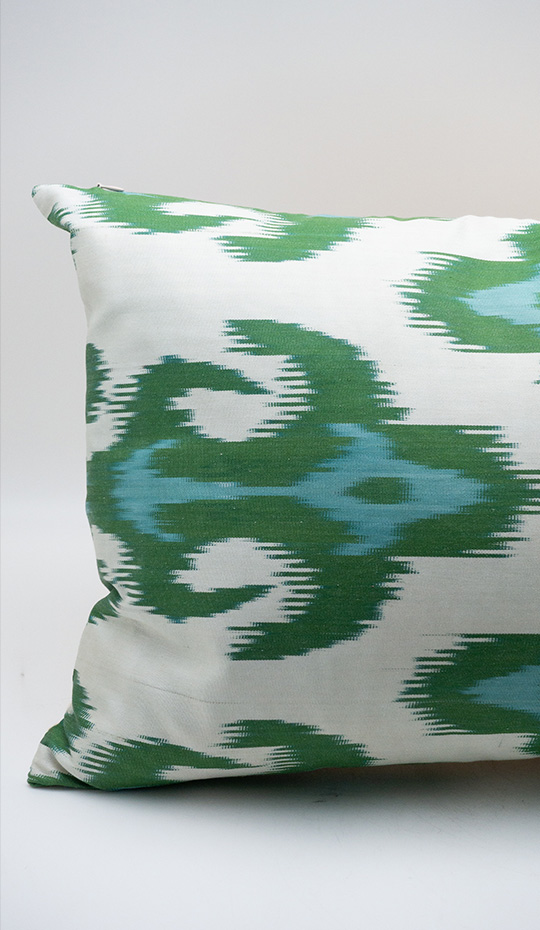Ikat Pillow, Green