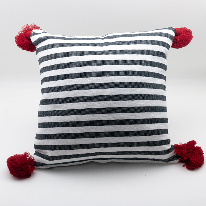 Moroccan Tassel Pillow, Red