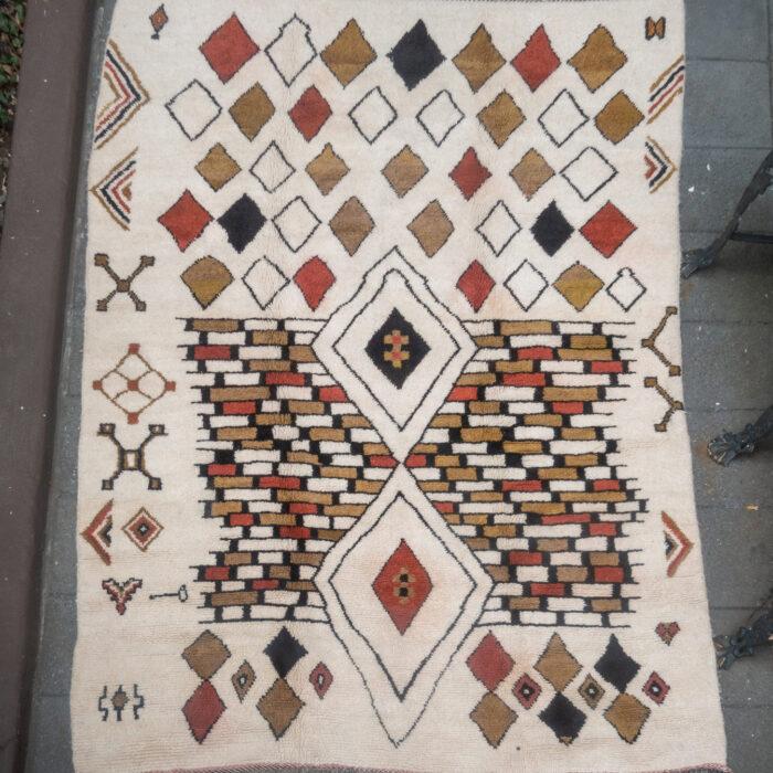 Natural Dye Moroccan Rug