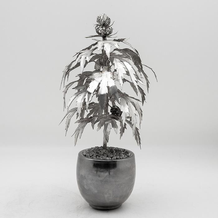 Park Avenue Pot Plant Silver