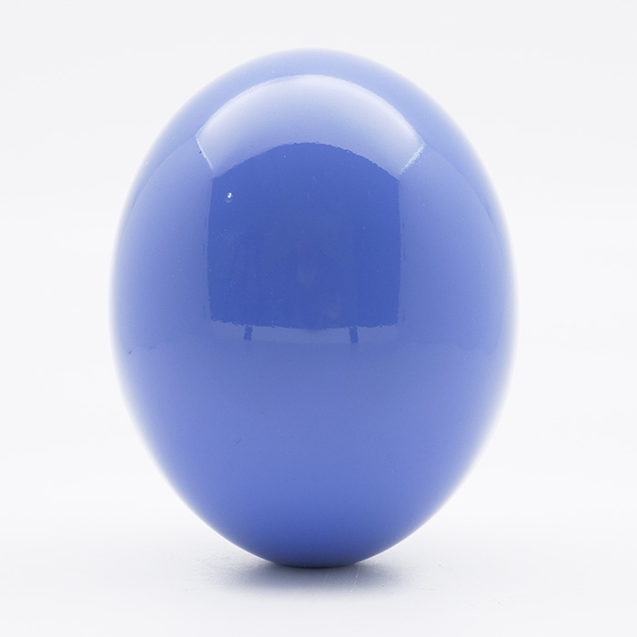 Lacquered Ostrich Egg, Dark Blue