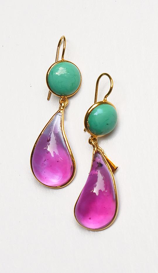 Loulou de la Falaise Bicolor Earrings II