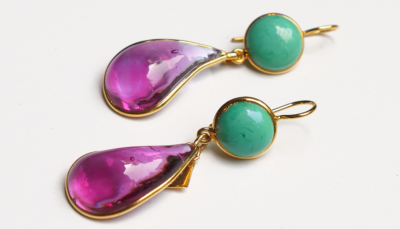 Loulou de la Falaise Bicolor Earrings II