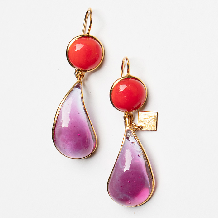 Loulou de la Falaise Bicolor Earrings VI