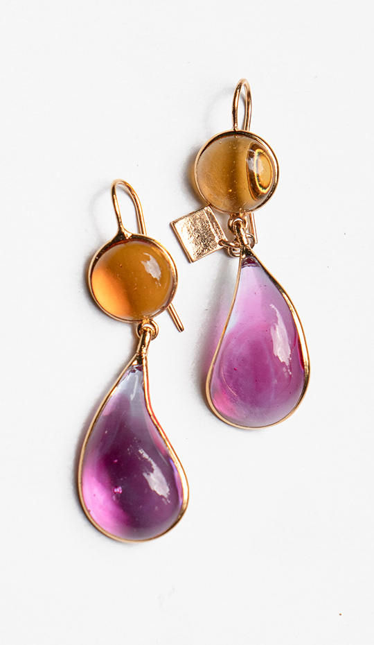 Loulou de la Falaise Bicolor Earrings IX