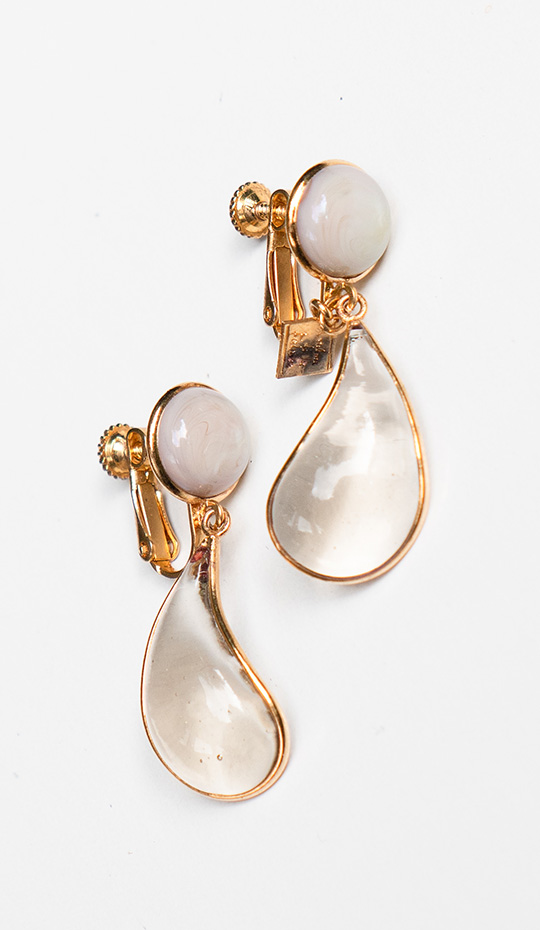 Loulou de la Falaise Bicolor Clip Earrings II