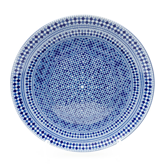 Moroccan Fez Blue Dinner Plate
