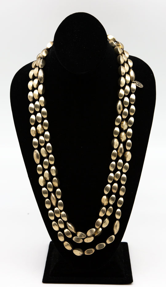 Lou Lou De La Falaise Gold Tone Beaded Necklace