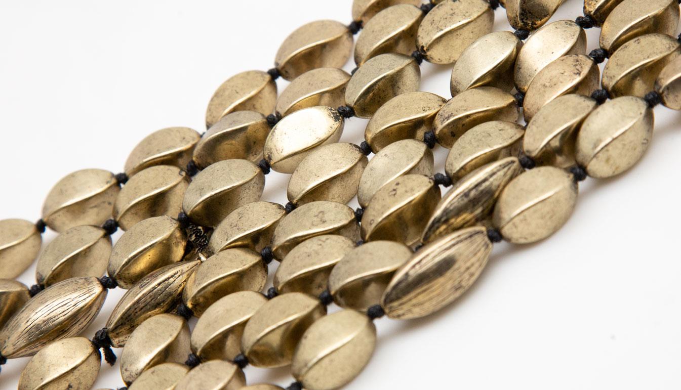 Lou Lou De La Falaise Gold Tone Beaded Necklace