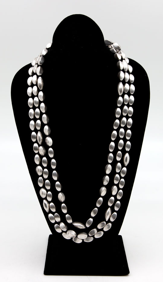 Lou Lou De La Falaise Silver Tone Beaded Necklace