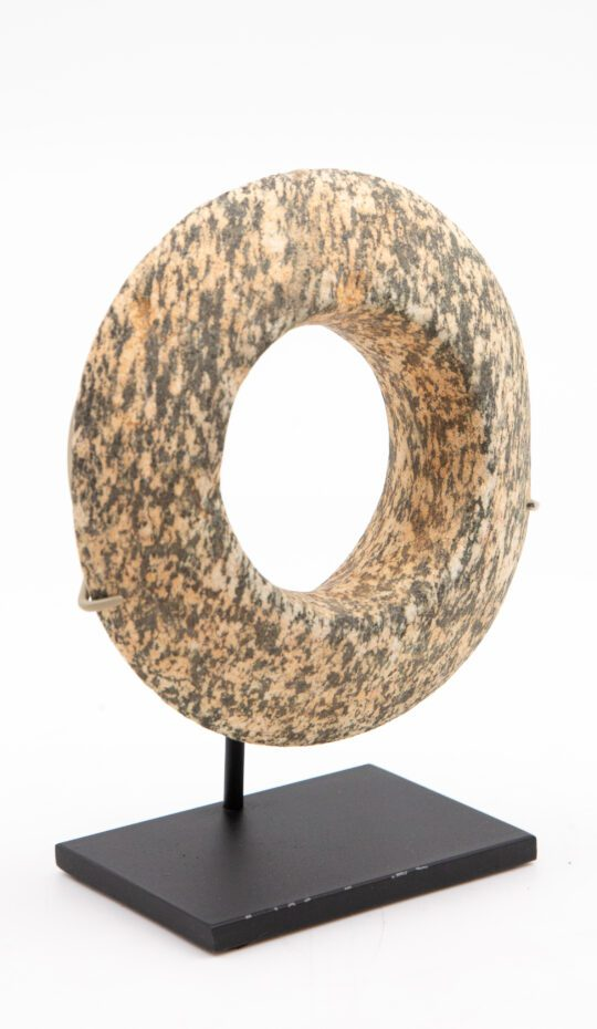 Mounted Large African Stone Bracelet on a black metal stand