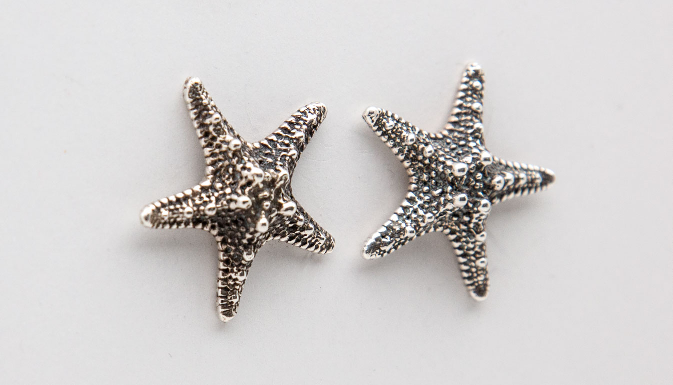 Starfish Silver Earrings