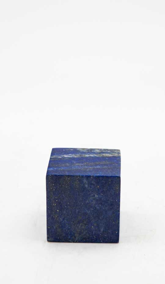 Lapis Lazuli Cube. Highly polished and hand-carved