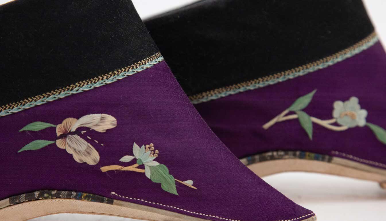 Purple-cloth-baby-shoes-handmade